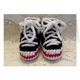 Tarjeta Botines del bebé de las zapatos tenis