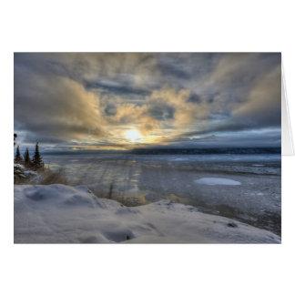 Tarjeta Brazo de Turnagain del solsticio de invierno