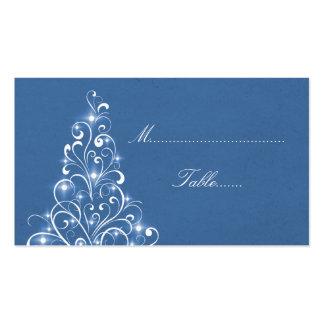 Tarjeta brillante del lugar del árbol del día de tarjetas de visita