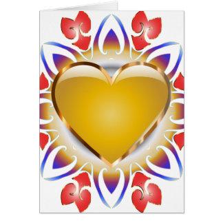 Tarjeta Brillar Intensamente-Corazón-Tarjetas