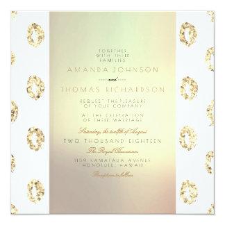 Tarjeta Brillo atractivo nacarado de oro del ornamento