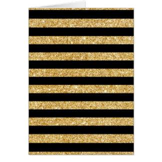 Tarjeta Brillo del oro y modelo elegantes de la raya negra