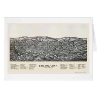Tarjeta Bristol, mapa panorámico del CT - 1889