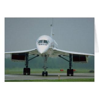 Tarjeta British Airways Concorde, en manera del taxi