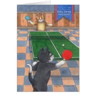 Tarjeta Brote y Tony Notecard del cumpleaños de los gatos