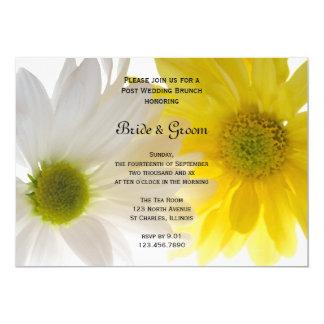 Tarjeta Brunch del boda del poste de las margaritas