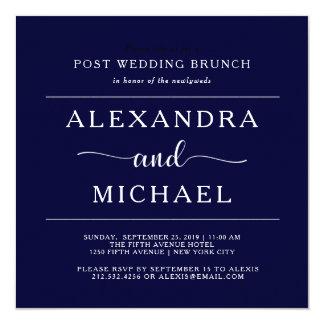 Tarjeta Brunch minimalista del boda del poste de la