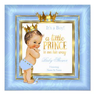 Tarjeta Brunette azul de la corona del oro blanco del