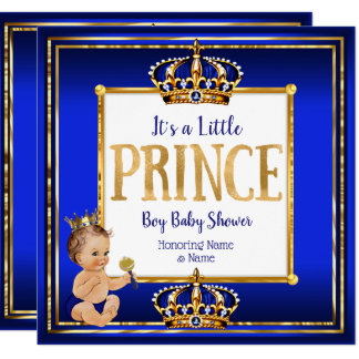 Tarjeta Brunette del oro del azul real de la fiesta de