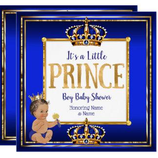 Tarjeta Brunette DK del oro del azul real de la fiesta de