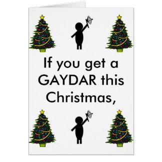 Tarjeta BSG gaydar, árbol de navidad, árbol de navidad,