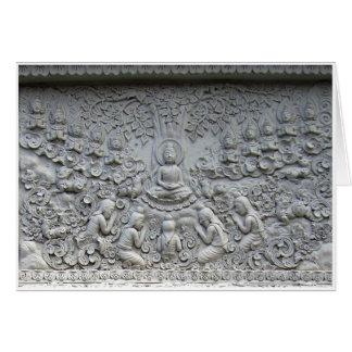 Tarjeta Buda debajo del árbol de Bodhi