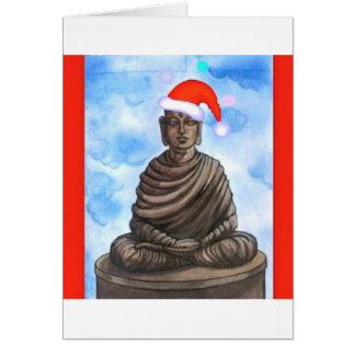 Tarjeta Buddhism - Buda - gorra de las Felices Navidad