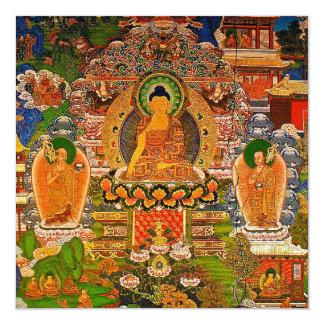 Tarjeta Buddhism budista de Buda que bendice al bohemio de