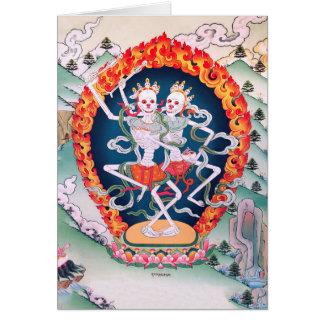 Tarjeta budista tibetana del arte