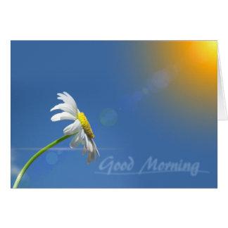 Tarjeta Buena mañana, gracias por traer la sol