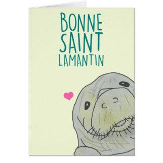 Tarjeta Buena Santo Lamantin