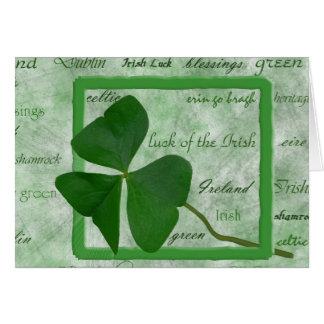 Tarjeta Buena suerte irlandesa