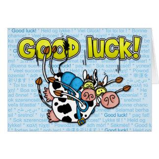 Tarjeta buena suerte - tándem skydive de las vacas