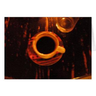 Tarjeta buena taza de café