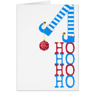 Tarjeta Buenas fiestas navidad divertido de la foto del