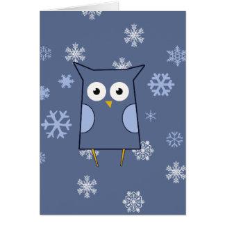 Tarjeta Búho azul de la nieve