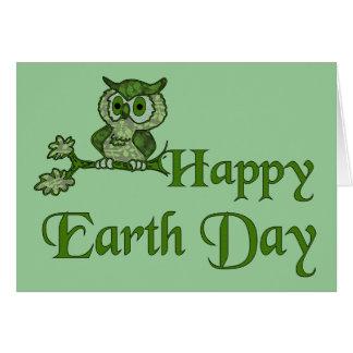 Tarjeta Búho de Día de la Tierra