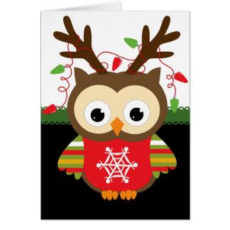 Tarjeta Búho del navidad