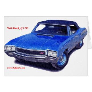 Tarjeta Buick 1968 GS 400