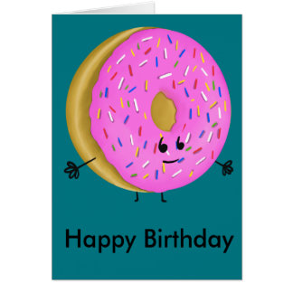 Tarjeta Buñuelo del feliz cumpleaños