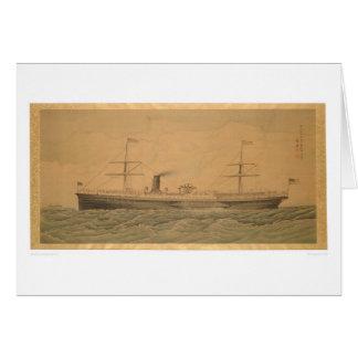 Tarjeta Buque de vapor pacífico Sacramento (1607A)