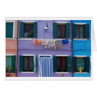 Tarjeta Burano, Venecia Italia