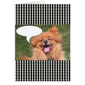 Tarjeta Burbuja divertida del discurso del perro