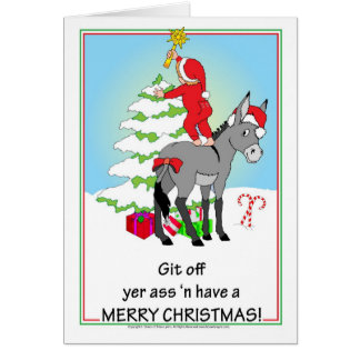 Tarjeta Burro del navidad