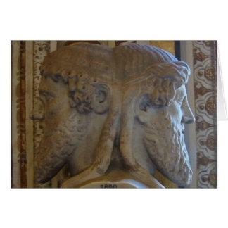 Tarjeta Busto de Jano, museos de Vatican