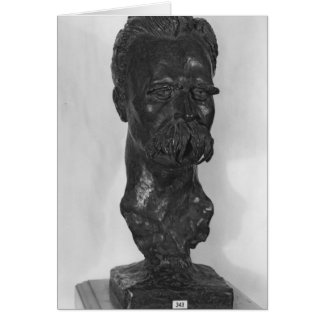 Tarjeta Busto del alemán de Friedrich Nietzsche