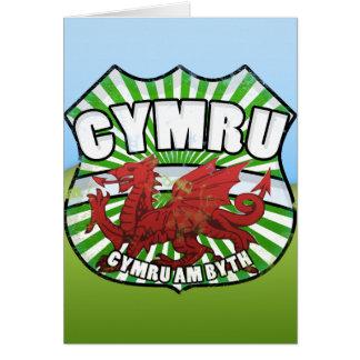 Tarjeta Byth de País de Gales - de Cymru - de Cymru