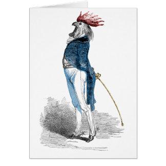 Tarjeta Caballero del gallo