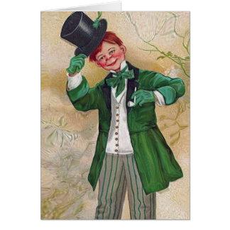 Tarjeta caballero del irlandés del vintage