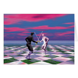 Tarjeta Caballeros de espadas
