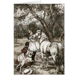 Tarjeta Caballo de Merrylegs del libro negro de la belleza