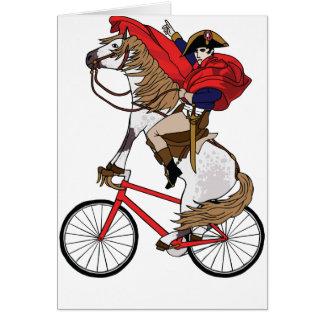 Tarjeta Caballo de montar a caballo de Napoleon que está