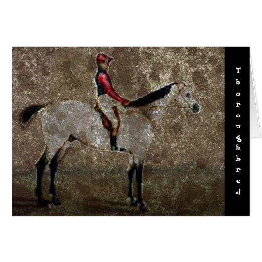 Tarjeta Caballo de raza excelente del vintage