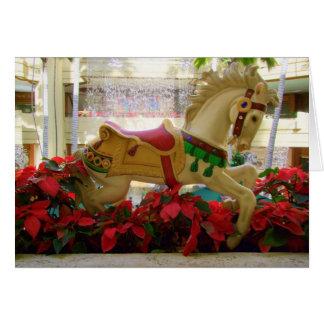 Tarjeta Caballo del carrusel del navidad - 1