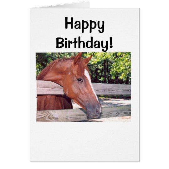 Tarjeta ¡Caballo, feliz cumpleaños!