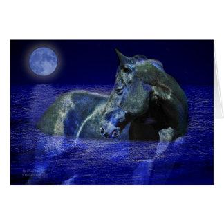 Tarjeta Caballo negro de la luna