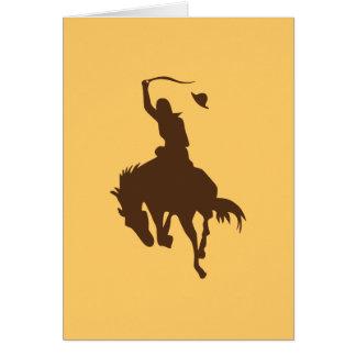 Tarjeta Caballo y vaquero