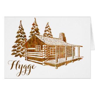 Tarjeta Cabaña de madera acogedora - Hygge o su propio