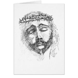 Tarjeta - cabeza de Cristo