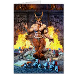 Tarjeta Cabra sabática Baphomet satánico